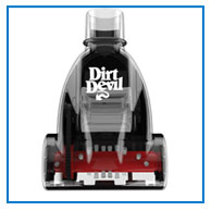 dash detail 4. V367696192  Cheap Dirt Devil  Dash Dual Cyclonic Bagless Upright Vacuum with Bonus Vac+Dust Floor Tool, UD70250B On Sale