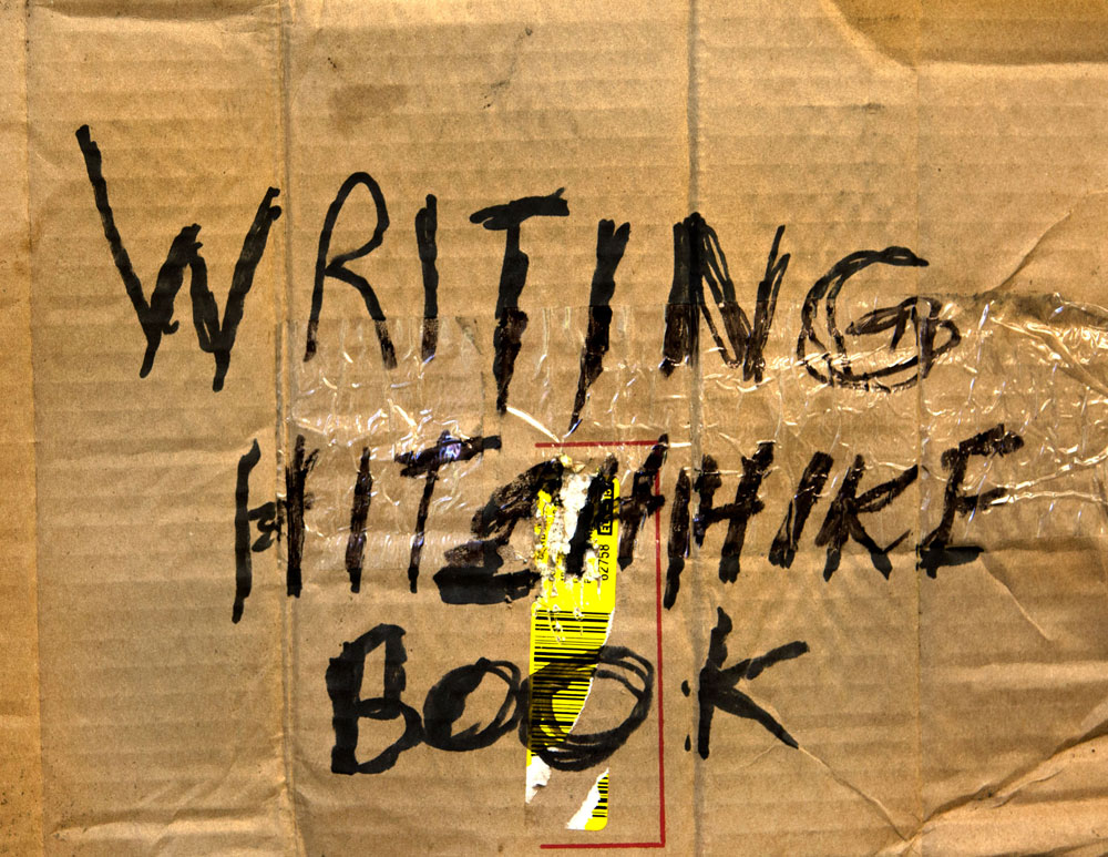 WRITING HITCHHIKE BOOK