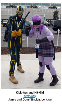 Kick-Ass and Hit-Girl