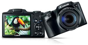 sx510hsmain. V358731505  Canon PowerShot SX500 IS 16.0 MP Digital Camera with 30x Wide Angle Optical Image Stabilized Zoom and 3.0 Inch LCD (Black)