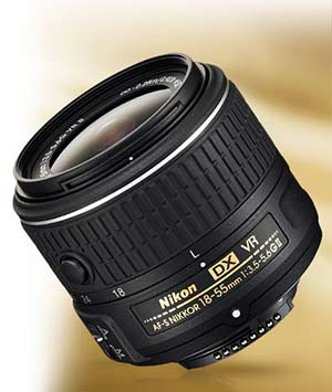 Product photo of the Nikon AF-S DX NIKKOR 18-55mm f/3.5-5.6G VR II lens