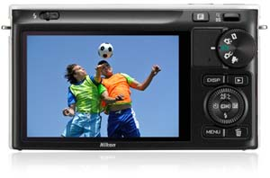 The Nikon 1 J2 has an ultra-high-resolution 3-inch LCD