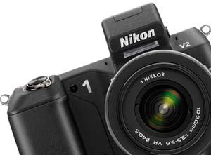 photo of the Nikon 1 V2 interchangeable lens digital camera