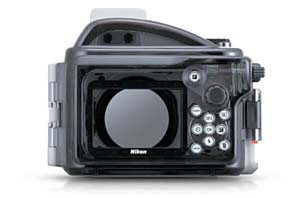 Nikon 1 WP-N1 waterproof housing rear view