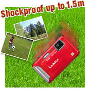 Shockproof up to 1.5m