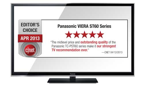 Panasonic VIERA TC P50ST60 600Hz 3D Smart Plasma HDTV