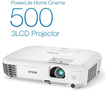 Epson+V11H584220+PowerLite+Home+Cinema+500+Silver+Edition+SVGA+2600+Lumens+HDMI+Projector+%28White%29