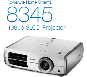 PowerLite Home Cinema 8345 1080p 3LCD Projector