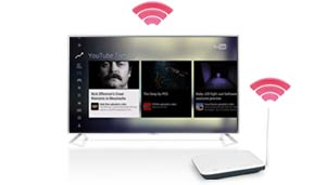Easy wireless internet access for your TV.