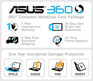 ASUS Warranty and ADP