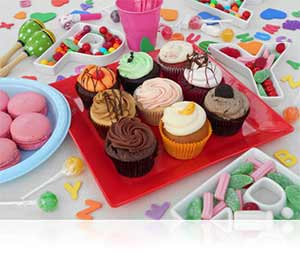 Nikon COOLPIX L30 photo of cupcakes showing scene modes