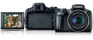 sx50hs main. V388302331  Canon PowerShot SX500 IS 16.0 MP Digital Camera with 30x Wide Angle Optical Image Stabilized Zoom and 3.0 Inch LCD (Black)