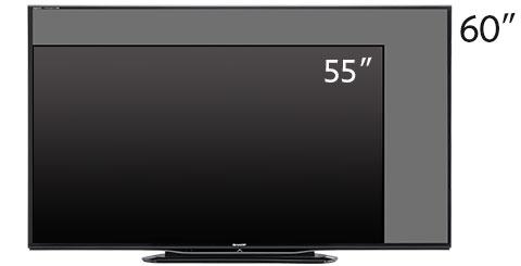 Diferencia Tamaño TVs