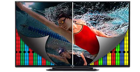 Sharp LC-70LE757 70-inch Aquos Quattron 1080p 240Hz Smart LED 3D HDTV ...