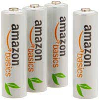 AmazonBasics Ni-MH Rechargeable Batteries 4-pack