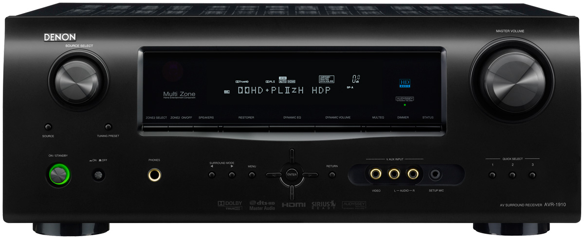How can I connect a microphone to AV receiver