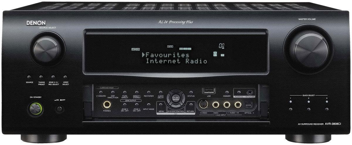 Denon AVR-3808CI 7.1-Channel Multizone Home Theater Receiver with