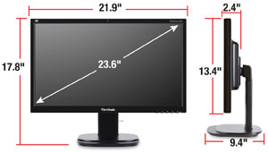 viewsonic vg2437mc led 24 inch screen led lit monitor computers accessories. Black Bedroom Furniture Sets. Home Design Ideas