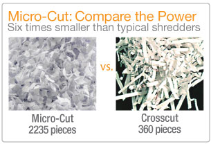 The AmazonBasics 12-Sheet Shredder is truly a high-security shredder.