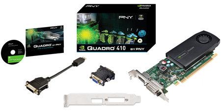 PNY NVIDIA VCQ410-PB Quadro 410 512MB Low Profile PCIe GPU Video Card