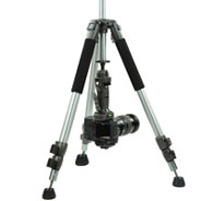 Position your camera under the tripod for low shots