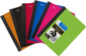 Five Star Composition Book, 100 Sheets, College Ruled, Assorted Colors