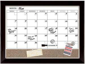 Quartet Home Decor Magnetic Combination Calendar Board