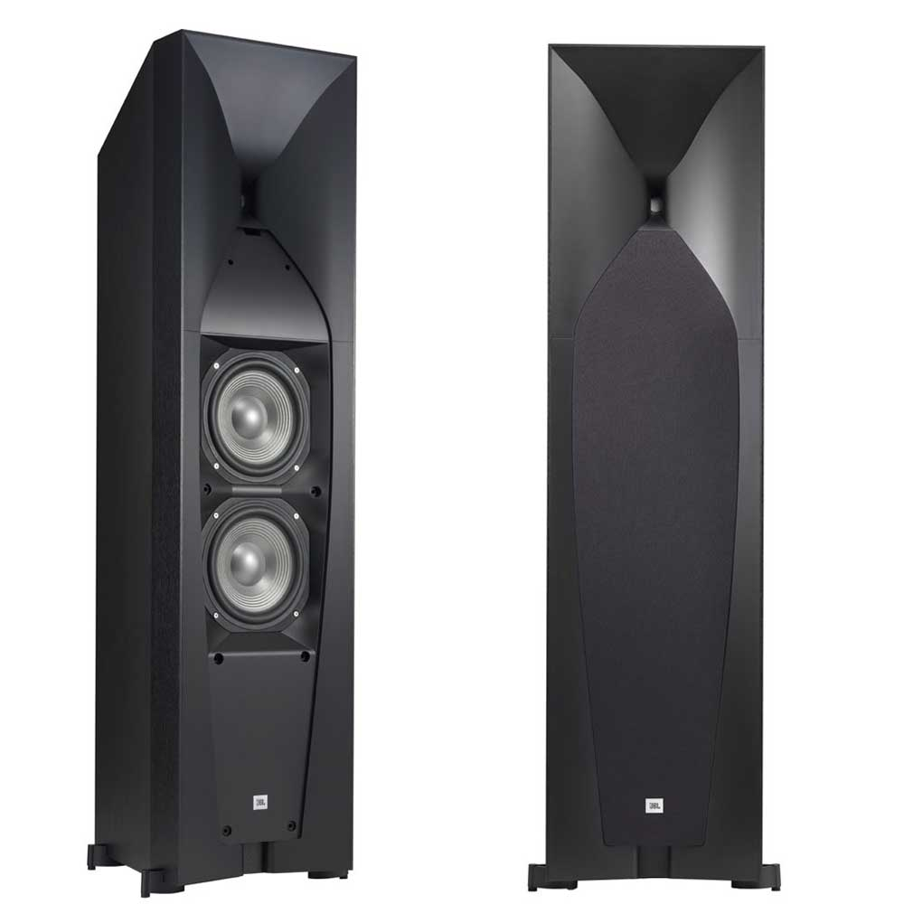 """Dual 5-1/4"""" Floorstanding Loudspeaker with High-Frequency Compression"""