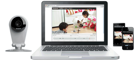 Monitor Dropcam HD wireless video on your laptop, iPhone, iPad, Kindle Fire and Android.