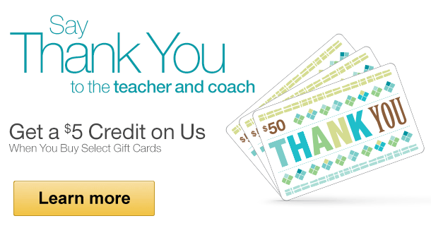 Amazon Mom Exclusive Offer: Spend $45 or More on Select Amazon Gift Cards, Get a $5 Credit on Us