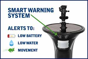 Smart Warning System - Alerts to Low Battery, Low Water and Movement