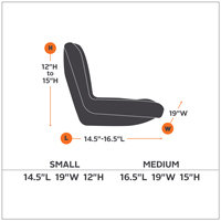 Classic Accessories Tractor Seat Cover Size