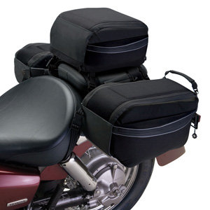 Tail bag and Saddle bags are designed to work together (sold separately)