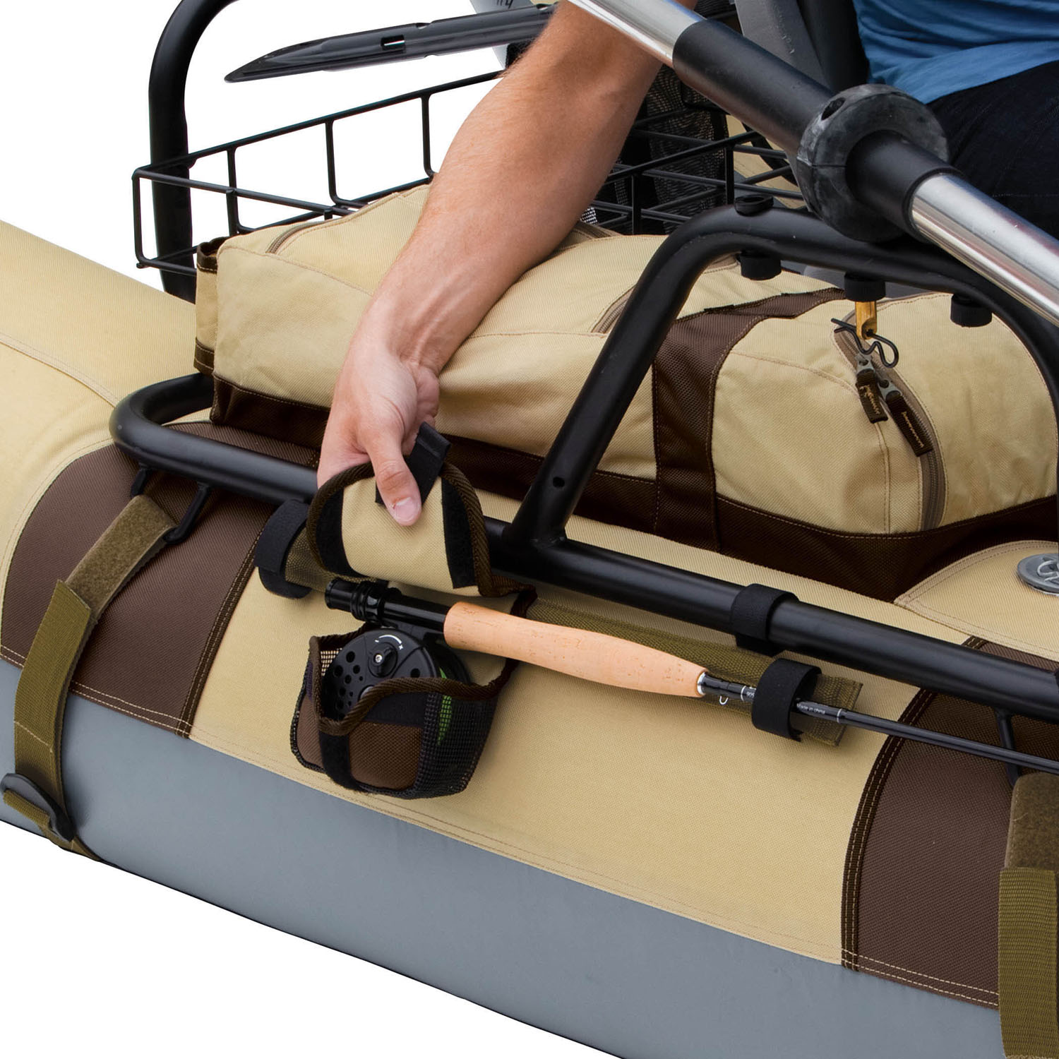 Classic accessories tioga pontoon boat for Fishing rod holders for pontoon boats