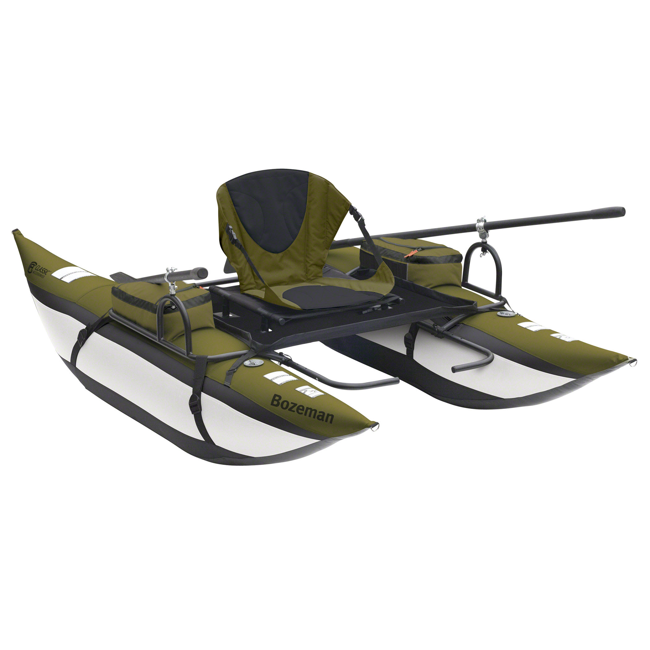 com classic accessories bozeman inflatable pontoon boat with backpack fishing boats