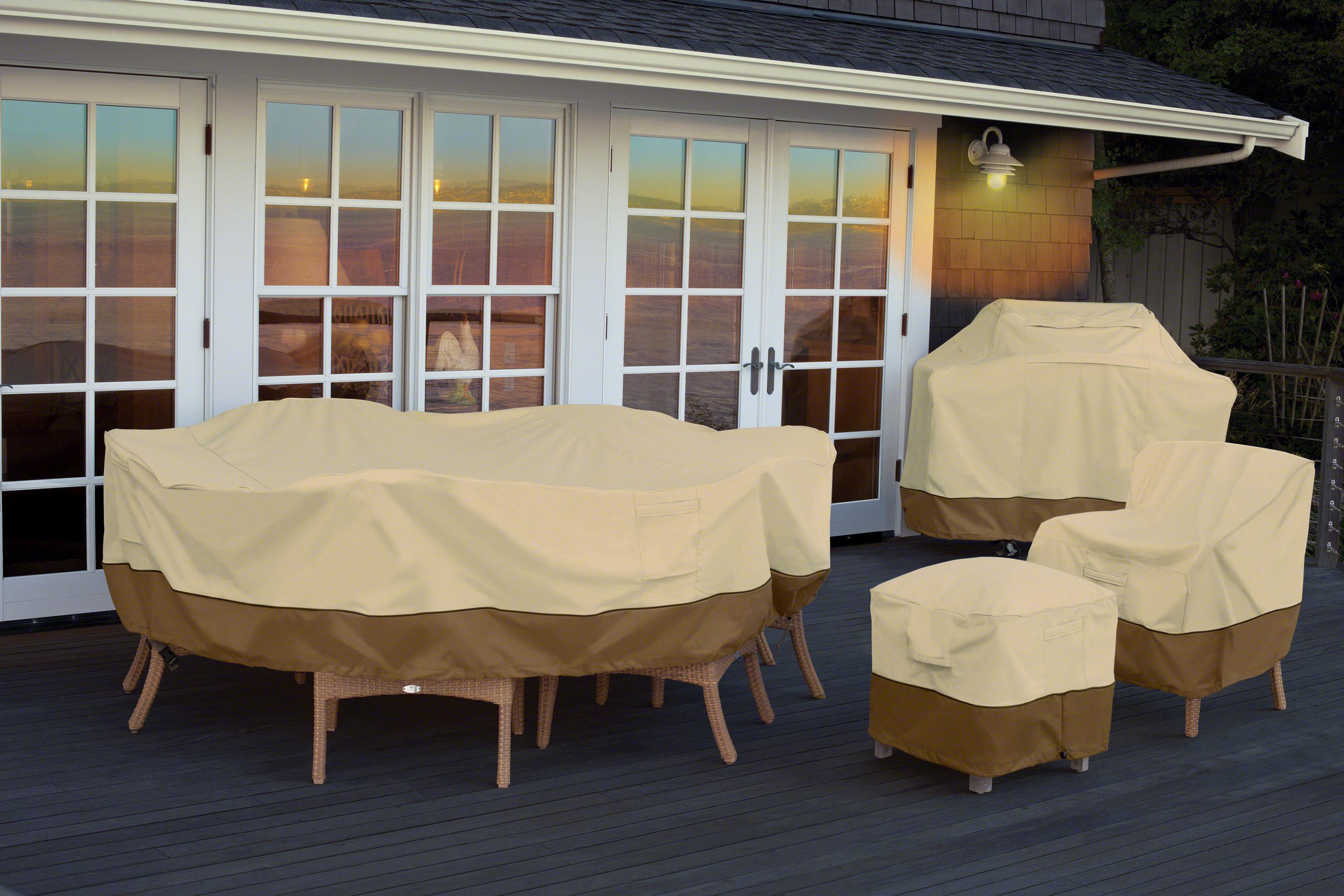 classic accessories 55 233 011501 00 veranda patio bistro table chair set cover. Black Bedroom Furniture Sets. Home Design Ideas