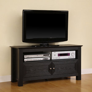 Walker Edison 44 Inch Wood TV Console, Black