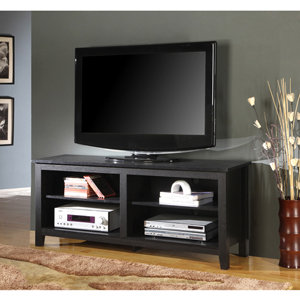 Wood TV Stand Black