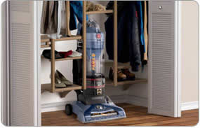 Hoover T-Series WindTunnel Pet Rewind Bagless Upright - Folding Handle - Compact Vacuum