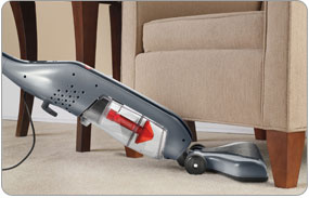 Hoover Corded Cyclonic Stick Vacuum - Low Profile Base