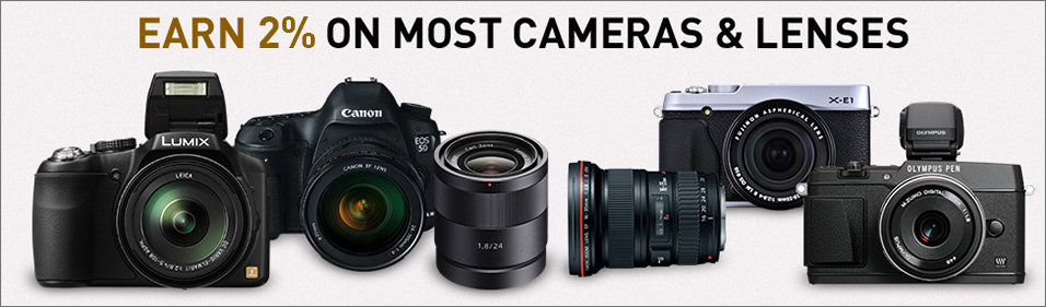 Earn 4% GearShop Rewards on Most Cameras and Lenses