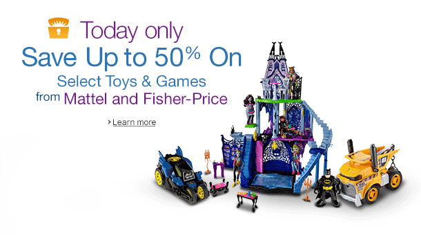 Deal of the Day: Up to 50% Off Toys from Mattel and Fisher-Price