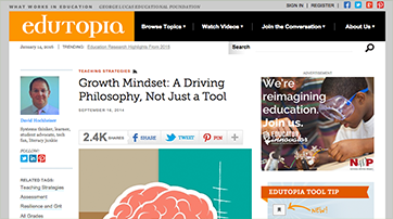 Growth Mindset: A Driving Philosophy, Not Just a Tool