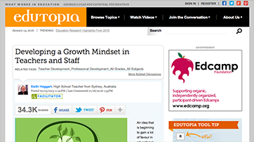 Developing a Growth Mindset in Teachers and Staff
