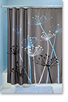 Interdesign thistle shower curtain 72 x 72 Nature inspired shower curtains