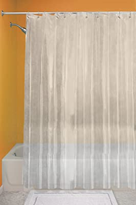 Interdesign Bathroom 72 Inch By 72 Inch Vinyl Shower Curtain Liner Clear Ebay