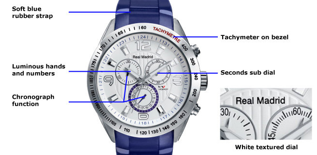 Viceroy Men's Real Madrid 432835-05 Blue Chronograph Watch