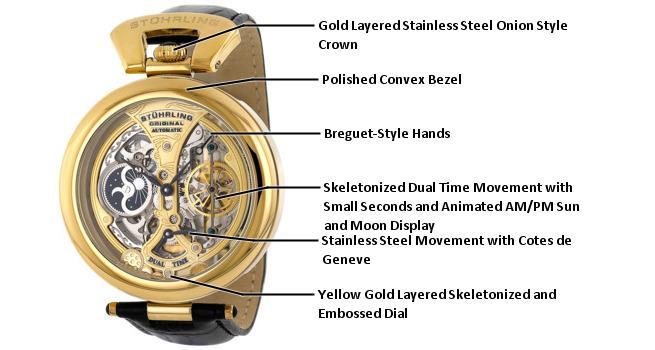 B003X0Y2KS 127A.333531 photo1 - Stuhrling Original Grandeur Gold Mens 127A.333531 watch