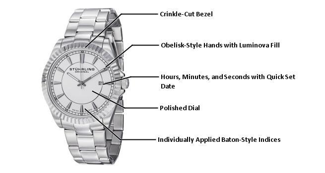 B007OTMIBY 408G.33112 photo1 - Stuhrling Original Silver Mens 408G.33112 watch