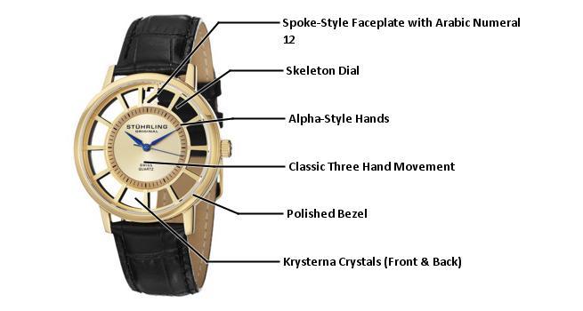 B0089K8CJO 388S.333531 photo1 - Stuhrling Original Classic Gold Mens 388S.333531 watch